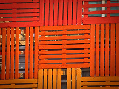 ROY (garryknight) Tags: wood red orange london yellow canon powershot southbank creativecommons slat lightroom festivalofbritain sx220hs
