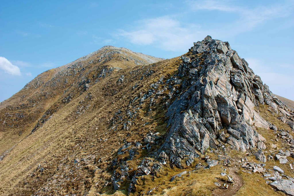 Rock pinnacle on the Three Brothers ridge