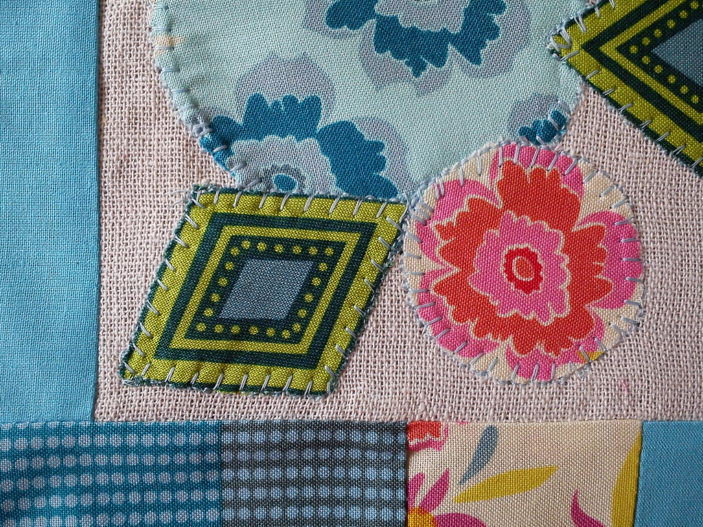 pillow applique detail