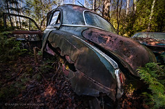 To Everything There is a Season... (KvonK) Tags: old abandoned car spring rust tripod wideangle textures wreck mcleans kvonk nikond300s tokina11mmto16mm28