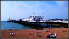 Brighton Pier Sussex. Sunday 01/05/11. (Ledlon89) Tags: beach sussex pier brighton southcoast deckchairs palacepier