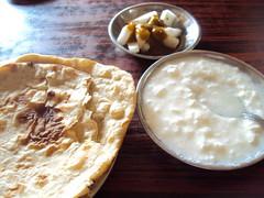 Tandoori Roti and Yoghurt