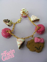 Kawaii Cookie Bracelet 2008 (Scarlett Ann Perkins) Tags: pink food cute cake japan miniature yummy cookie twin jewelry jewellery fimo lolita clay kawaii guns macaron yumms thetwinguns wwwthetwingunscouk