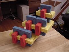 NYC Convention 2002 Models: Umulius Rectangulum Spiral (Daniel Kwan) Tags: 2002 spiral origami daniel tube pipe modular convention fold crease kwan ousa interlocked thoki yenn danielkwan umulius rectangulum