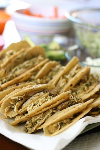 Crispy Shredded Chicken Tacos, Two Ways | taco recipes | chicken recipes | Cinco de Mayo recipes | gluten-free recipes | homemade corn tortillas | perrysplate.com