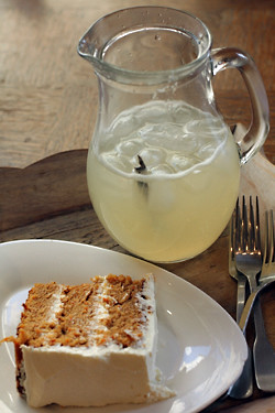 sugarplum carrot cake + lemonade