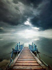 Heaven Pier (CResende) Tags: above longexposure blue portugal clouds pier heaven idyllic mythical vnmilfontes 5dmkii bigstopper cresende gettyimagesiberiaq2