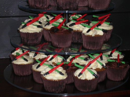 Lightsaber Cupcakes