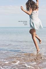 Enjoy your freedom (Louise Denton) Tags: ocean sea summer portrait selfportrait love me girl sunshine freedom jump energy pretty dress live enjoy laugh 365 skip odc odc2