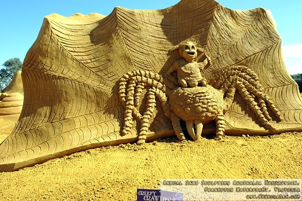 Annual Sand Sculpting Australia exhibition, Frankston waterfront-29