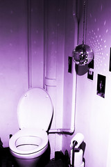 Disco toilets [who else got some?] (Bourguiboeuf) Tags: music water ball disco mirror closed jacob violet wc facette boule pq rouleau cuvette funckycops
