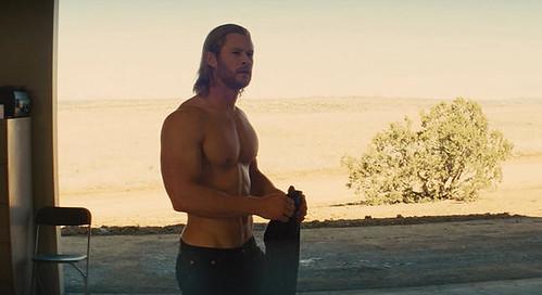 Chris Hemsworth as Thor - Half Naked