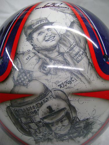 Vitor Meira's Indy 500 inspired helmet