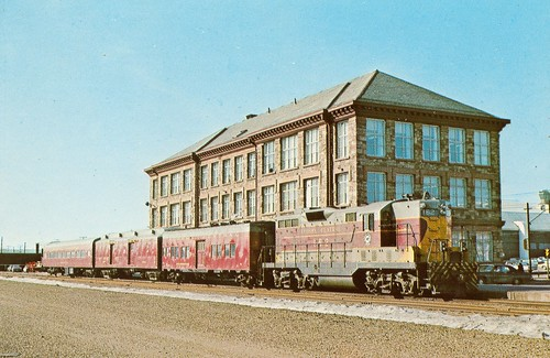 VIA Rail Tempo Train Canadian Railroad Postcard Toronto Union Station Ontario