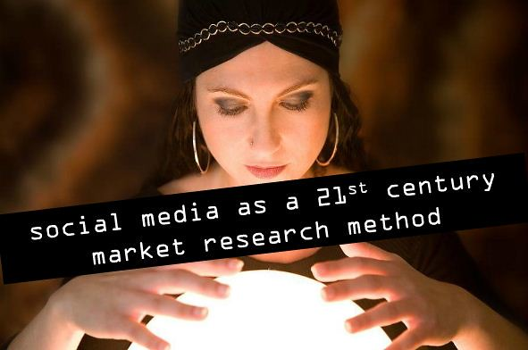 Social media is a 21st century market research method