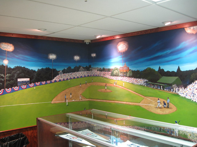 Mural at the CCBL HOF
