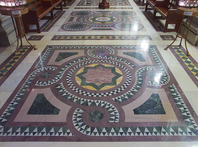 Cathedral Basilica of Saint Louis, in Saint Louis, Missouri, USA - floor of Our Lady's Chapel
