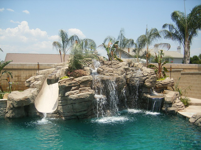 cool pools with waterfalls and slides - Cool Pools With Waterfalls And Slides