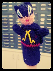 Josh bought me this totally awesome Batman finger puppet over the weekend.