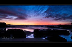 LIGHT OF HEAVEN (matt burman) Tags: ocean sea sun lighthouse colour water night sunrise timelapse rocks waves ship nighttime algae soldiersbeach
