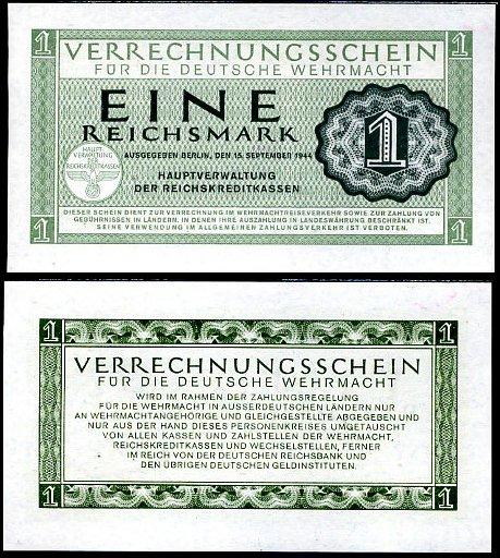 1 Reichsmark Nemecko 1944, Wehrmacht Pick M38
