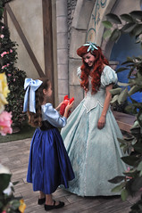 Ariel and Ariel with Sebastian (Angelasews) Tags: ariel sebastian disneyland disney littlemermaid princessfantasyfaire