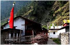 Evening Settling Down (Visual Vibrations) Tags: india hills himalaya gangotri harshil dharali mukhba bagori mukhwa baghori