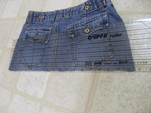 measure width of jean bottom