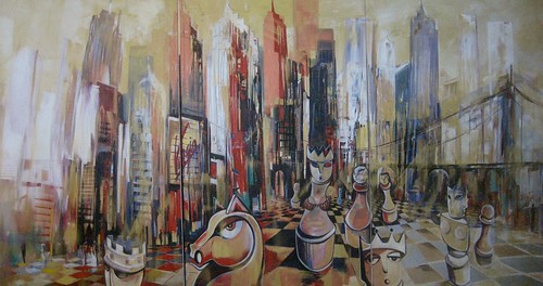 New York  - Painting - Cubism