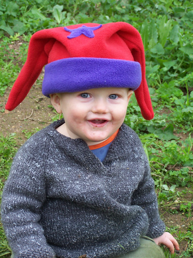 Silly Star hat - Cherry Red