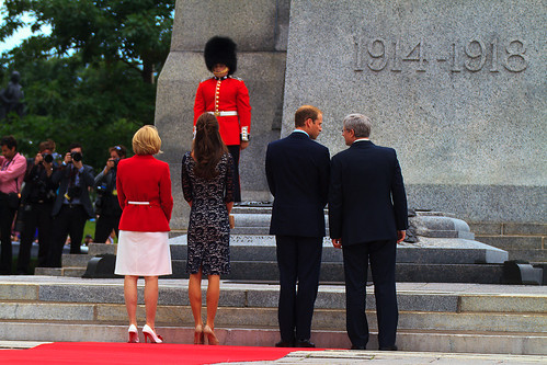 The Duke & Duchess of Cambridge with PM Stephen Harper