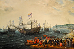 Adam Willaerts - The Embarkation at Margate of Elector Palatine and Princess Elizabeth in 1613, 1623 at The Queen's Gallery Buckingham Palace London England (mbell1975) Tags: uk england adam london art dutch museum painting golden gallery museu elizabeth princess royal grand palace musée musee m queen queens master age gb goldenage museo masters residence buckingham margate muzeum palatine residenz the elector embarkation müze 1613 willaerts museumuseum