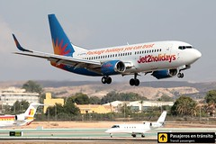 Boeing B737 Jet2 Holidays (Ana & Juan) Tags: airplane airplanes aircraft aviation airport aviones aviacin boeing 737 b737 jet2 holidays landing leal alicante alc spotting spotters spotter planes canon closeup