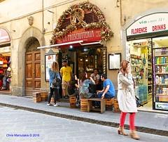FIRENZE - La Prosciutteria  DSCF2297 (Chris Maroulakis) Tags: firenze toscana tuscany via dei neri pannini lunch light prosciutteria fujifilm x30 chris maroulakis italy 2016