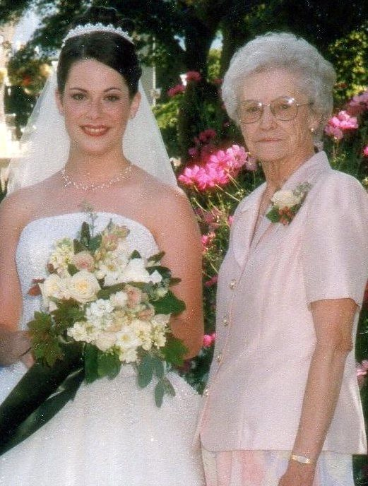 grandma and I on my wedding day