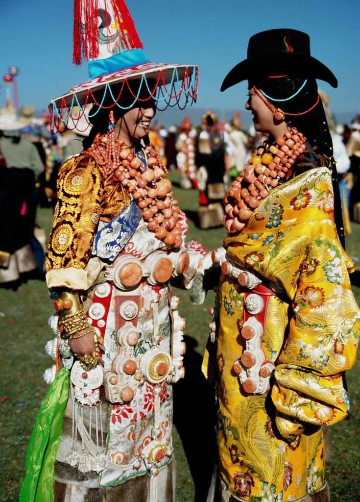 Wealthy Beauties at Zhachong Festival, Aba, Tibet