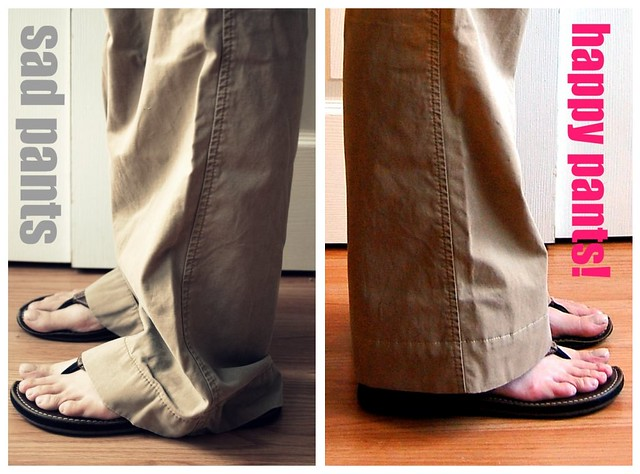 how to hem pants