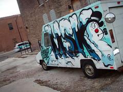 MSK Snowman Truck (Barrybu) Tags: street chicago art truck snowman msk