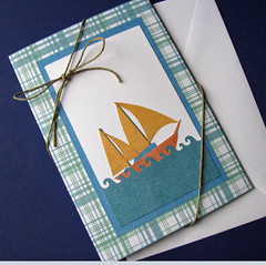 Father's Day Accordian Card cover (cornerstonelae) Tags: water day sailing handmade father card boating popup etsy accordian greeting fathers