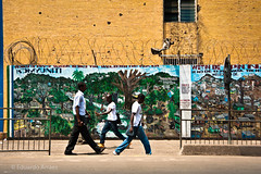 Which Way Salone? (Duda Arraes) Tags: streets colors wall downtown painted sierraleone westafrica environment walkers efa freetown environmentalfoundationforafrica