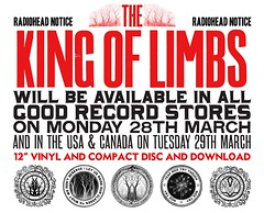 "Radiohead ""The King of Limbs"" flyer (beastandbean) Tags: radiohead newmusic coolmusic thekingoflimbs radioheadfans radioheadnews"