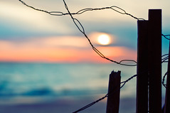 Happy Fence Friday {Morning Has Broken} Edition! (pixelmama) Tags: beach sunrise sand shoreline lakemichigan gettyimages catstevens beachfence hff evanstonillinois 1352 morninghasbroken eleanorfarjeon chasinglight project52 focus52 fencefriday thebigfivetwo morninghasbrokenlikethefirstmorning mineisthesunlightmineisthemorning