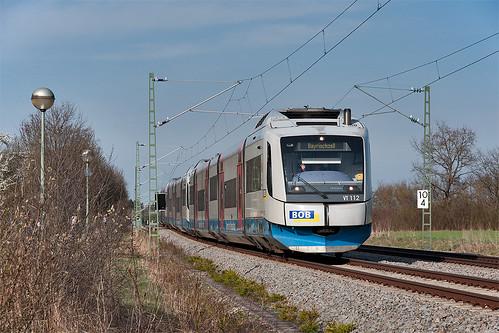 Gruß zurück! VT 112 passiert gerade Oberhaching