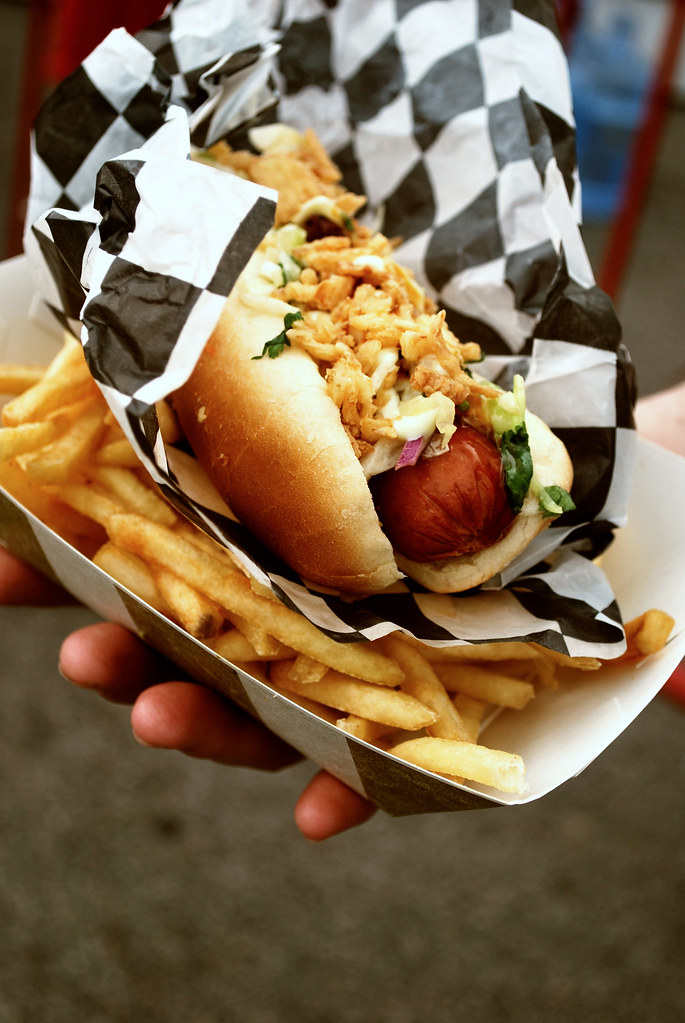 Terimayodog with fries