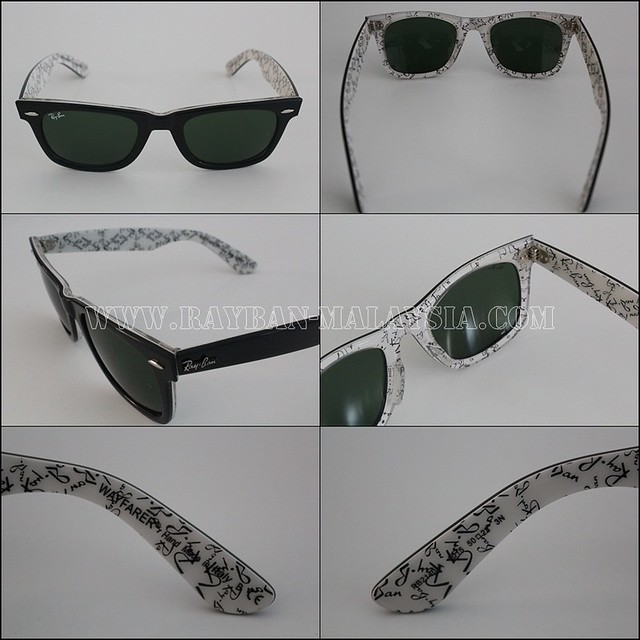 wayfarer rare prints ray ban text black