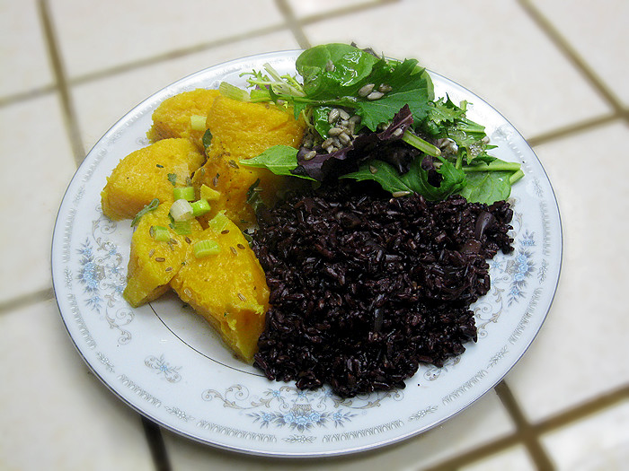 Wild Black Jasmine Rice with Spiced Coconut Butternut squash