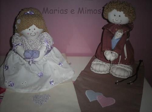 Boneca Daminha e Santo Antônio by Marias e Mimos