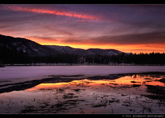 Hammond's Final Opus (Goldpaint Photography) Tags: ca trees sunset usa lake snow mountains reflection ice northerncalifornia clouds forest weed norcal polarizer frontpage siskiyoucounty explored hammondranch goldpaintphotography lakehammond dwighthammondresevoir siskiyoumountainsrange