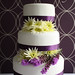 'Beautiful Contrast' Wedding Cake