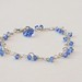 Swarovski blue on sterling silver heart bracelet